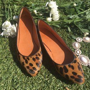 Madewell cheetah flats